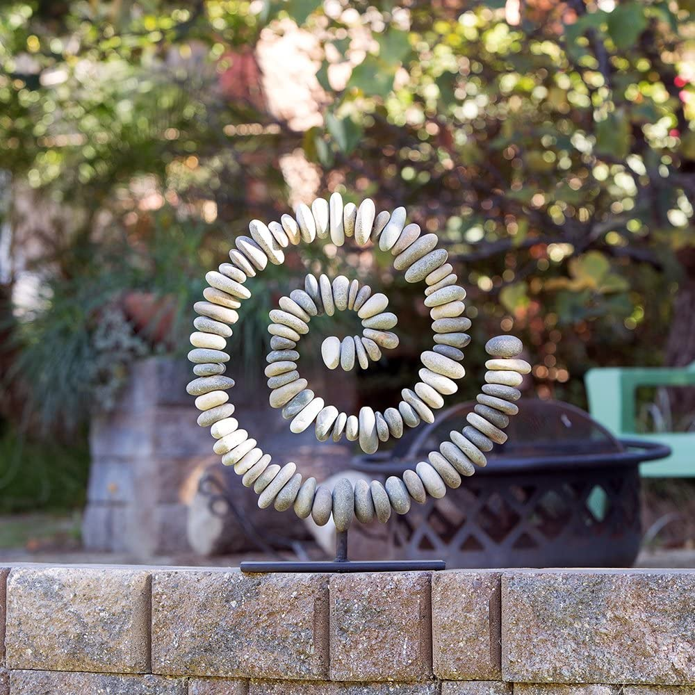 Natural River Stacked NEW before selling Stone Spiral Wholesale on Stand Garden Decoratio Zen
