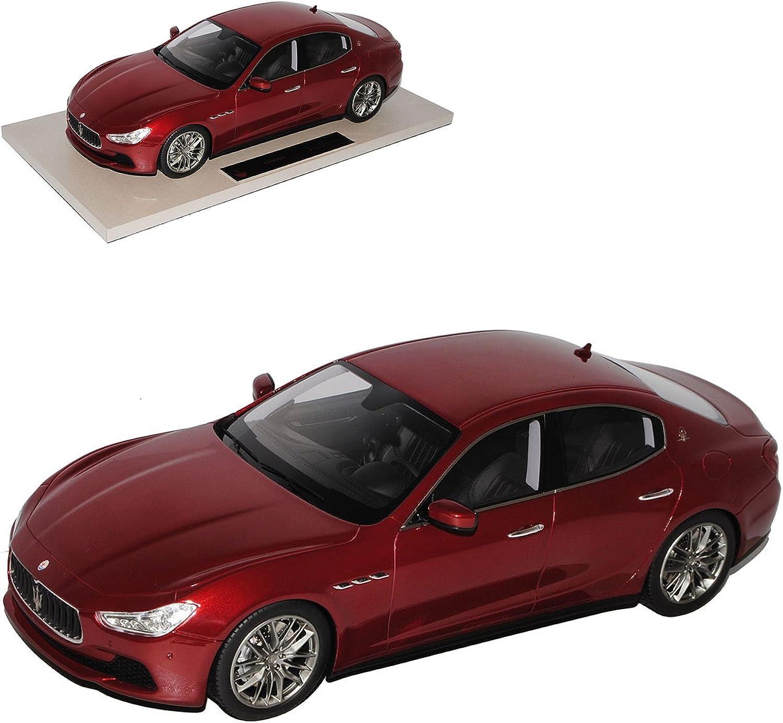 Maserati Ghibli Limousine Metallic Rot Ab 2013 1 18 Top Marques Modell Auto mit individiuellem Wunschkennzeichen B01N7H4FO2 Vorzugspreis  | Wirtschaft