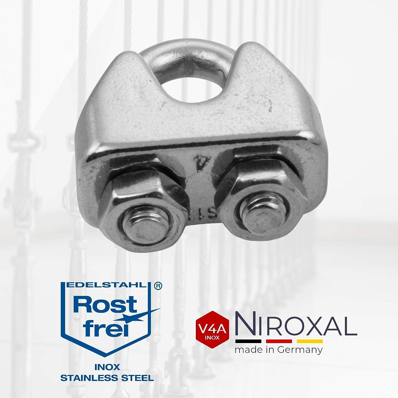 10 pezzi 2 mm Morsetto per fune metallica in acciaio inox V4A migliore dei morsetti zincati DIN 741.