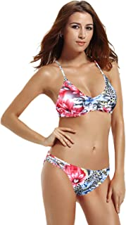 victoria secret white floral bikini