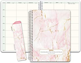 HARDCOVER Combination Plan and Record Book: One efficient 8.5 x 11 Book for Lesson Plans..