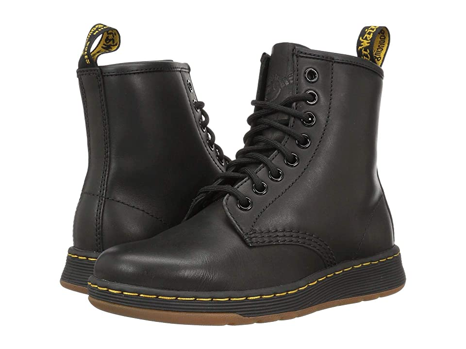Dr. Martens Newton 8-Eye Boot (Black Temperley) Lace-up Boots