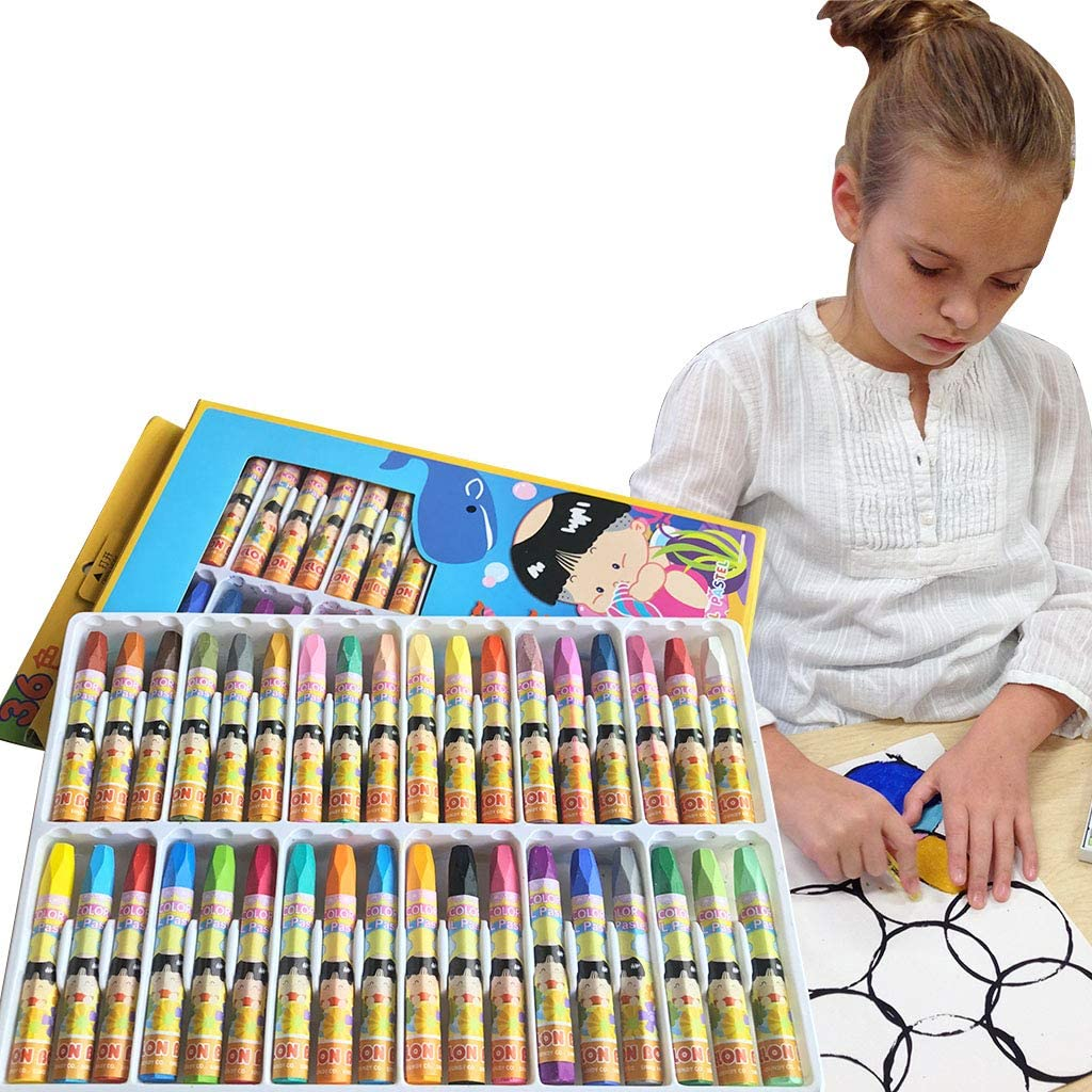 Oil Pastels, Washable Drawing Crayons, Children Drawing Set, Smooth Blending Texture Drawing Supplies, School Art Supplies, Great Gifts for Kids on Christmas (36 Cols Oil Pastels) : Office Products