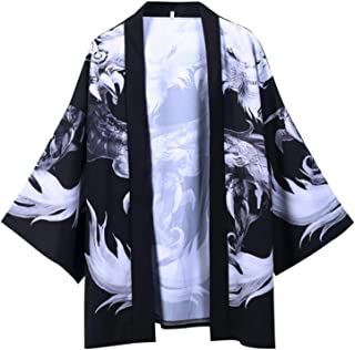 Ltong Harajuku Kimono Camisas Japonés Hip Hop Hombres Streetwear Chaqueta Ancient Robe Dragon Summer Thin