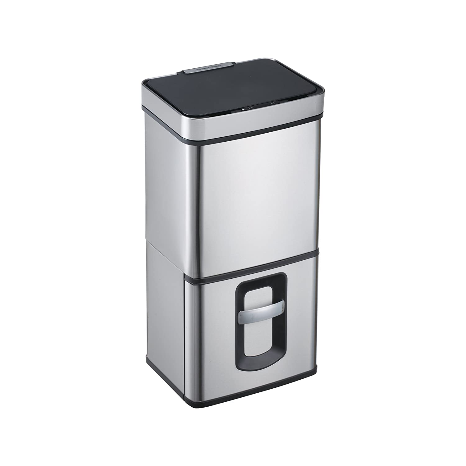 Trash Bin with Sensor Lid and gal Brushed Detroit Mall 20 Drawer Popular overseas Recycling