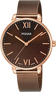 Pulsar casual Womens Analog Japanese quartz Watch with Stainless Steel Gold Plated bracelet PH8450X1