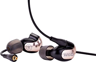 Westone W60 Six-Driver True-Fit Earphones with MMCX Audio Cable and 3 Button MFi Cable with Microphone