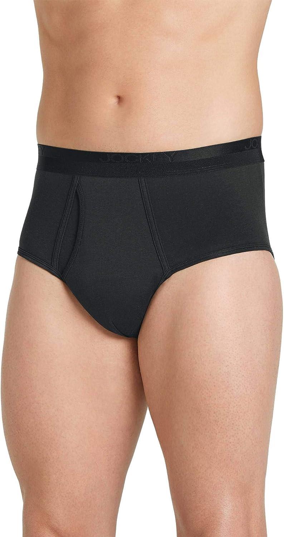 Jockey Men's Underwear Signature Pima Cotton Full-Rise Brief - 4 Pack