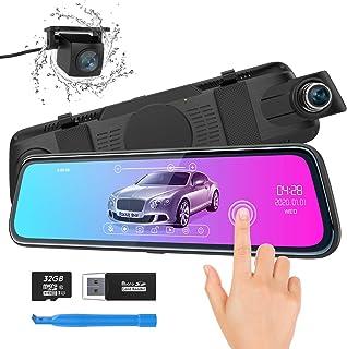 Cámara de Coche ThiEYE Espejo Dash CAM 10 1080P Full HD Pantalla táctil Doble Lente con WDRG-Sensor Grabación en Bucle Visión Nocturna Monitor de AparcamientoTarjeta SD de 32 GB