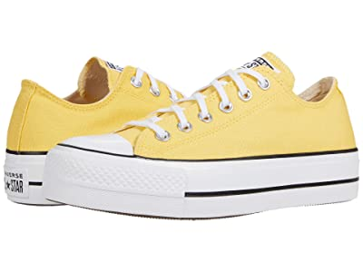 Converse Chuck Taylor(r) All Star Canvas Lift (Butter Yellow/White/Black) Women