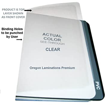 Amazon Com 7 Mil Clear Report Binding Covers Plastic Sheets Pack Of 100 8 3 4 X 11 1 4 With 2 Round Corners Office Products