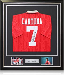 bdddc1c61fa Eric Cantona Signed Manchester United 1994 FA Cup Final Soccer Jersey In Deluxe  Black Frame With