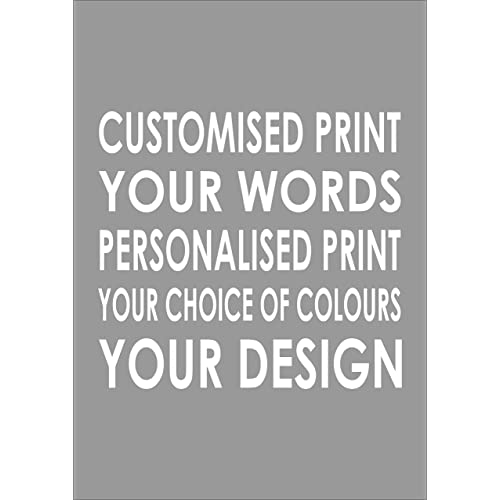 Customised Bespoke Print - Personalised Your Words - Any Colour - Print Poster A3