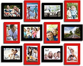 Art street and Art Street - Gracious Red and Black -Set of 12 Individual Photo Frames