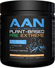 AAN Plant-Based Pre-Workout Extreme - 40 Servings (Peach Iced Tea)