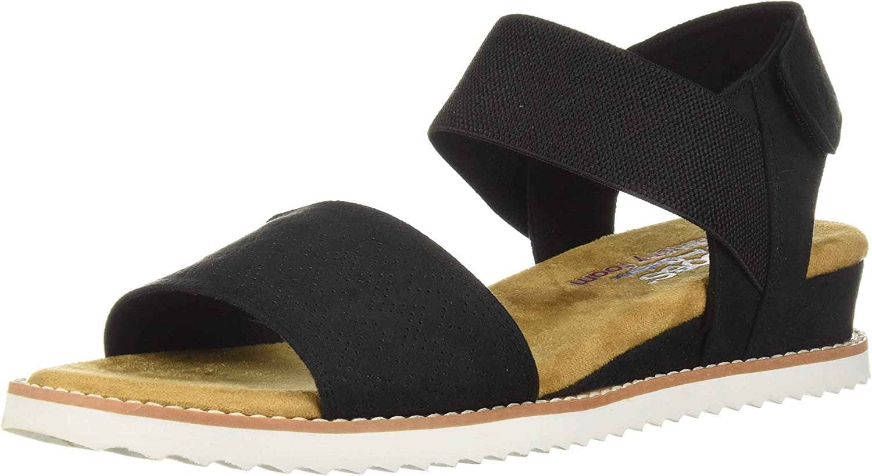 Skechers A surprise price is Super-cheap realized Women's Desert Kiss-Stretch Strap Quarter Sandal Flat