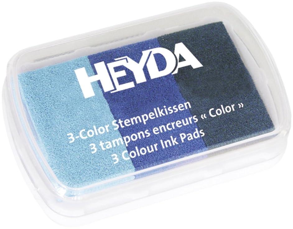 3 colour ink Pad / blue tones