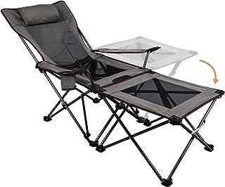 comprar comparacion Asteri Silla plegable plegable plegable portátil con soporte de taza mesa lateral desmontable y bolsa de transporte
