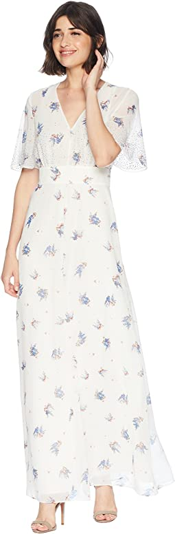 Drifting Wildflowers Maxi Dress w/ Embroidery