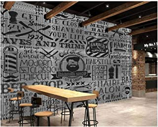 Jiling Vintage Wallpaper Barber Shop Elements for The Wall of The Barber Shop Sofa Living Room Wall Paper@300X210Cm