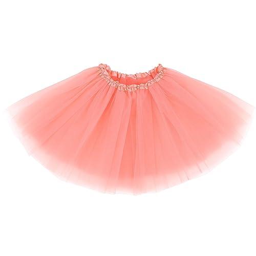 2faab10c0 Simplicity Women's Classic Elastic 3 or 4 Layered Tulle Tutu Skirt