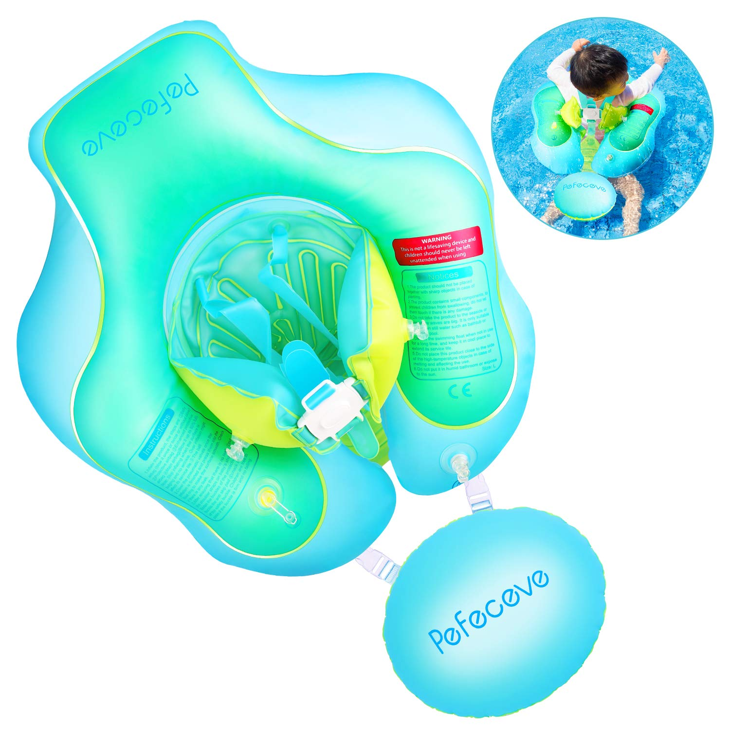 PEFECEVE Baby Inflatable Swimming Float