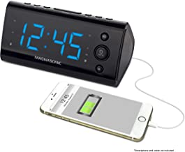 Magnasonic Alarm Clock Radio with USB Charging for Smartphones & Tablets Includes Dual Alarm, Battery Backup, Auto Time Se...