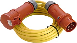 as - Schwabe CEE-Verlängerung – CEE-Stecker & CEE-Kupplung 400 V / 16 A – 25 m CEE-Verlängerung 5-polig mit Leitung K35 AT-N07V3V3-F 5G1,5 – IP44 – Made in Germany – Gelb I 60715