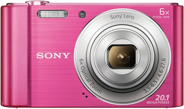 Sony DSC-W810 - Cámara compacta de 20.1 Mp (pantalla de 2.7 zoom óptico 6x estabilizador digital) rosa