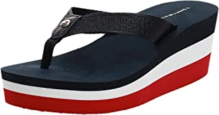 Tommy Hilfiger CORPORATE HIGHWEDGE BEACH SANDAL Women's Fashion Sandals