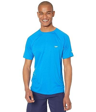 Speedo Easy Short Sleeve Swim Shirt (Blue Lemonade) Men