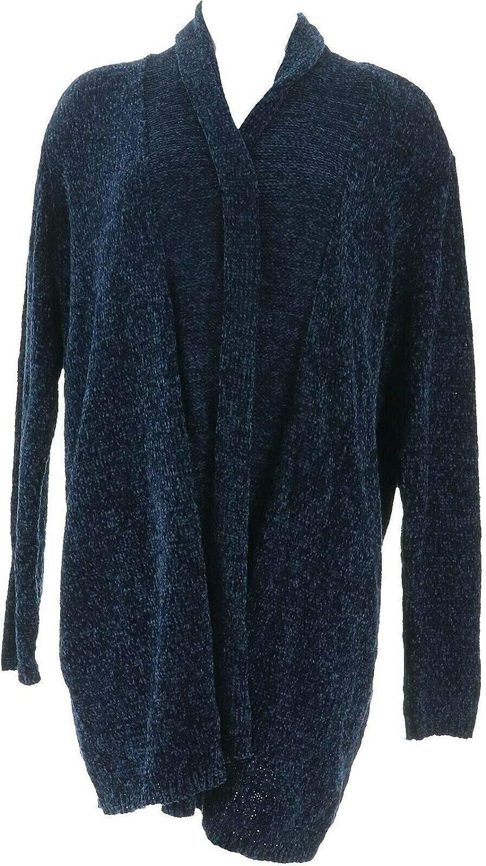 AnyBody Loungewear Chenille Relaxed Blazer Cardigan A310158