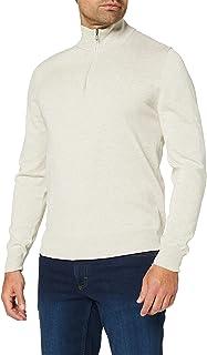 Hackett London Men's Cotton Silk Hzip Jumper