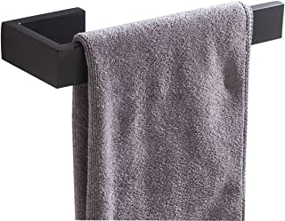 Flybath Open Towel Ring Rail SUS 304 Stainless Steel Holder Rack Kitchen Bathroom Accessories Wall Mounted, Matte Black