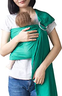 Vlokup Baby Water Ring Sling Carrier | Lightweight Breathable Mesh Baby Wrap for Infant, Newborn, Kids and Toddlers | Perfect for Summer, Swimming, Pool, Beach | Great for Dad Too Green