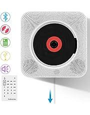 CDプレーヤー VIFLYKOO 新型 置き&壁掛け式 Bluetooth/FM/USB対応 ポータブルCDプレーヤー コンパクト 家庭用 ステレオ音楽システム 音楽再生/語学学習/胎児教育 リモコン付き 日本語説明書付き