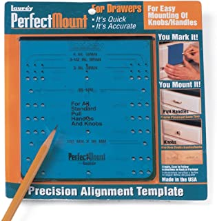 Laurey Perfect Mount Precision Alignment Template for Drawer Hardware, 98101