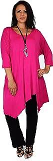 Women Plus Size Asymmetrical Long Tunic Shirt Dress Top