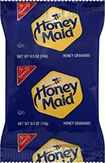 Honey Maid Graham Crackers, Individually Wrapped 0.5 Ounce Packages (Pack of 200)
