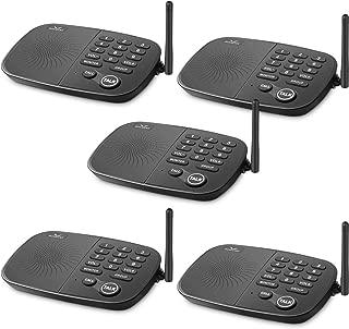 Wireless Intercom System Hosmart 1/2 Mile Long Range 10-Channel Security Wireless Intercom System for Home or Office[5 Units Black]