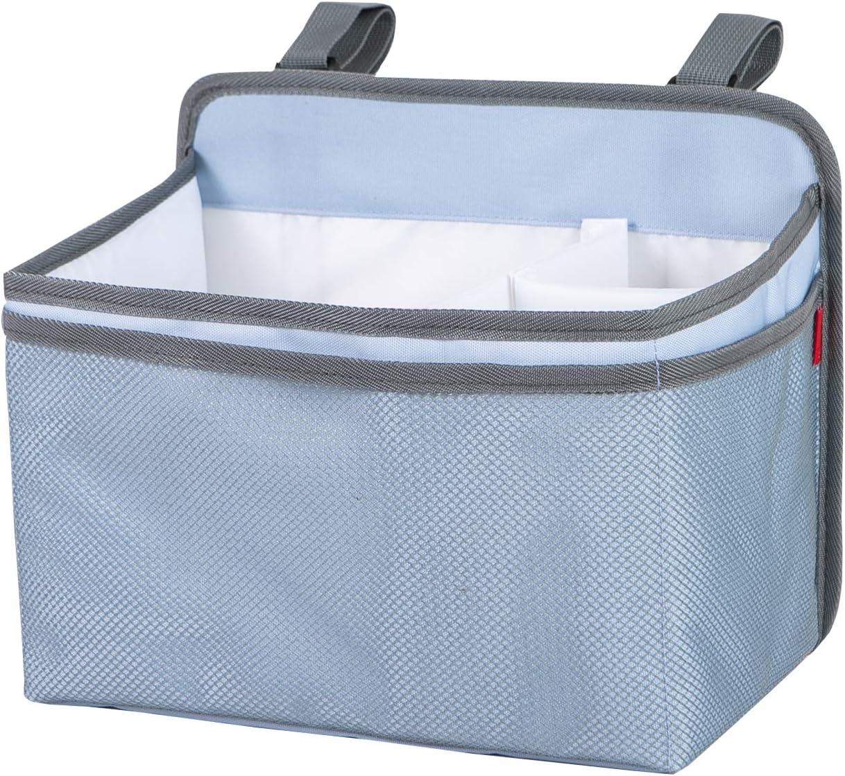 Babeboom Baby Diaper Organizer Storage , Hanging Organizers for Crib, Nursery Diaper Stackers, Baby Essentials Organiser Caddy (BLUE 1PCS)