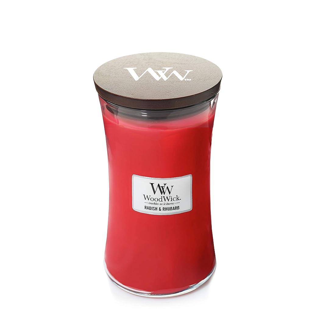 コンソール足首理容師WoodWick Radish and Rhubarb Large Jar Scented Candle