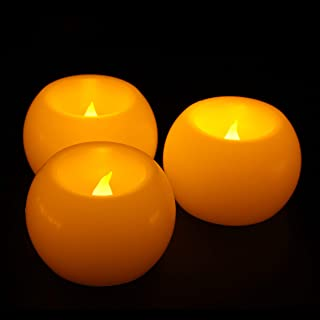Furora LIGHTING Flameless LED Tea Lights, Votive Tealight Candles Battery Operated - Real Wax Round Shaped Votives LED Tea...