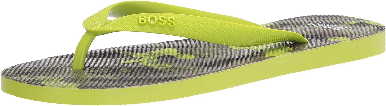 BOSS Men's Flip-Flop, Yellow Camouflage, 8-9
