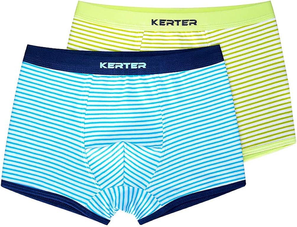 Vividda Pack of 2 Boys' Fashion Brief Kids Striped Breathable Boxer Underwear