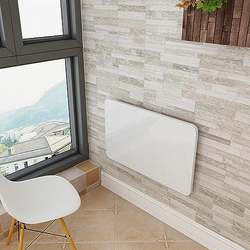 Table pliante Bureau D'ordinateur Note Murale Table à Manger Table Murale (Couleur   Blanc, Taille   80  50)