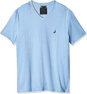 NAUTICA Men's Standard Short Sleeve Solid Slim Fit V-Neck T-Shirt