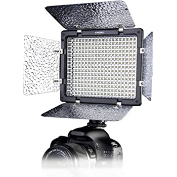 YONGNUO YN300 II 単色 LEDビデオライト 定常光ライト 300球搭載 単色 5500K 照明・撮影ライト リモコン付き 電池・ACアダプター別売り