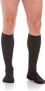 Jomi Compression Men's Socks Collection, 15-20mmHg Microfiber 102 (Large, Black)