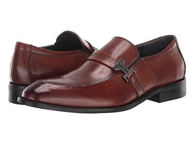 Stacy Adams Jonas Moc Toe Slip On Loafer (Cognac) Men